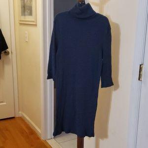 Turtleneck sweater dress.